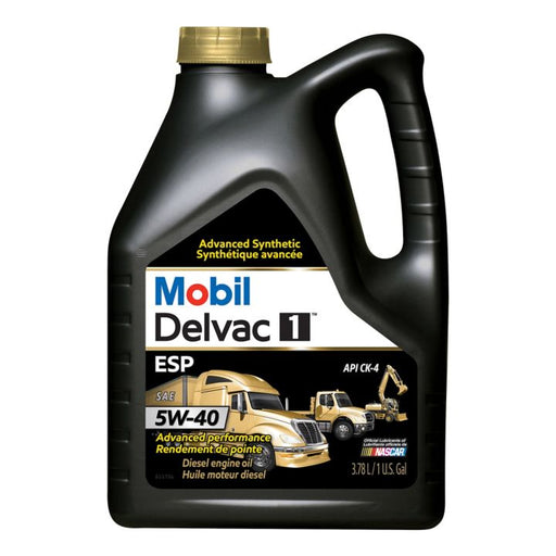 122898 Mobil Delvac Synthetic 5W40 Diesel Engine Oil, 3.78-L
