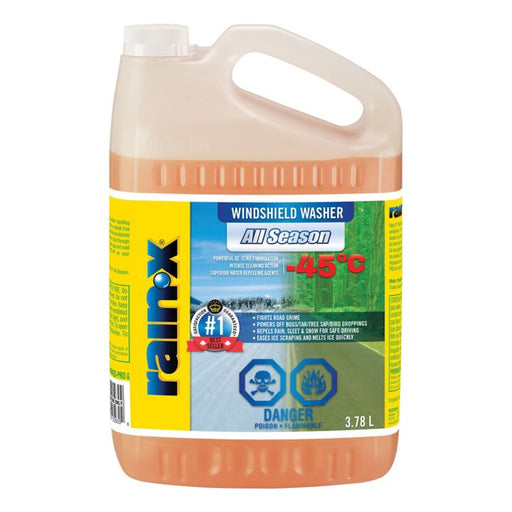 35-404QS Rain-X All Season Windshield Washer Fluid, -45°C, 3.78-L