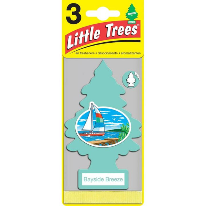 0372286 Little Trees Hanging Air Freshener, Bayside Breeze, 3-pk