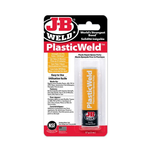 8237 J-B Weld Plastic Weld Repair Epoxy Putty, 57-g