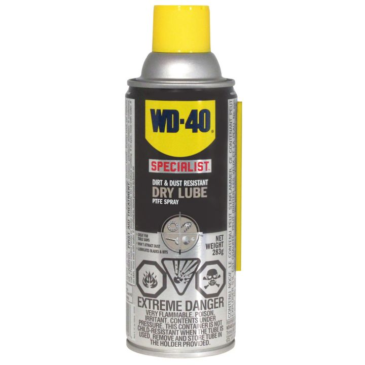 WD-40 Specialist Dirt & Dust Resistant Dry Lube PTFE Spray, 283-g