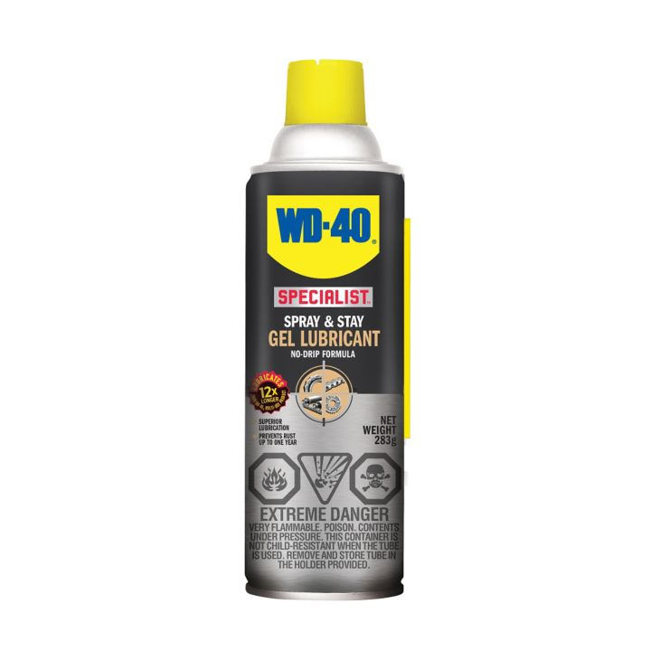 WD-40 Specialist Spray & Stay Gel Lubricant, 283-g