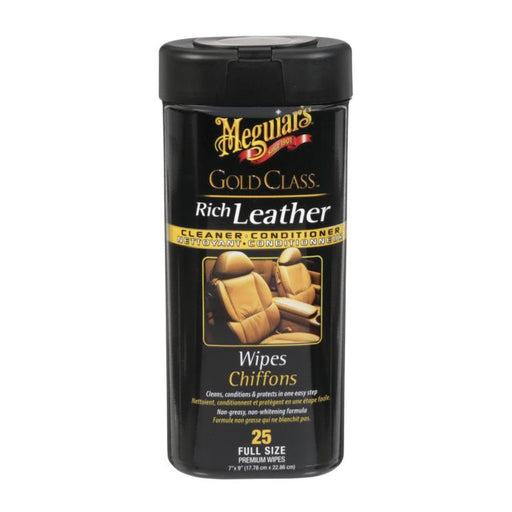 G-10900C Meguiar's Gold Class Rich Leather Cleaner Conditioner Wipes