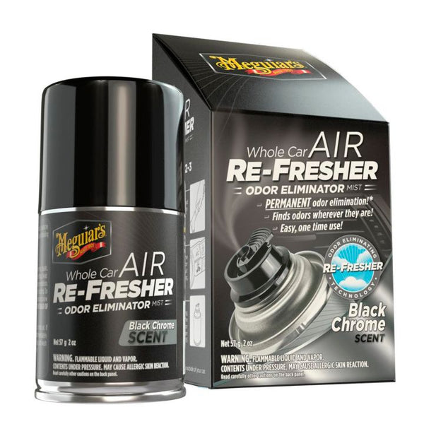 Meguiar's Whole Car Air Refresher Spray, Black Chrome