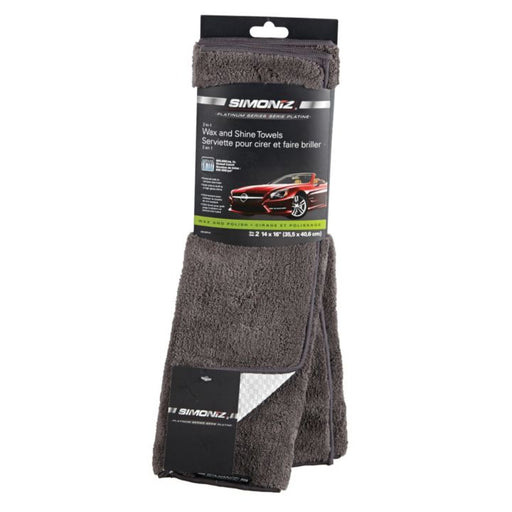 R-599319 Simoniz Platinum Wax & Shine Towels, 2-pk