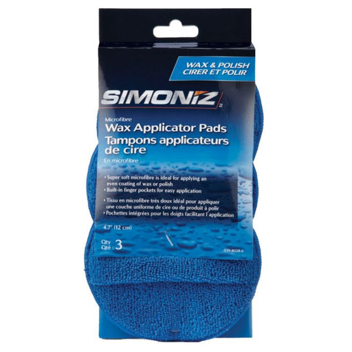 0398028 Simoniz Microfibre Wax Applicator Pads, 3-pk