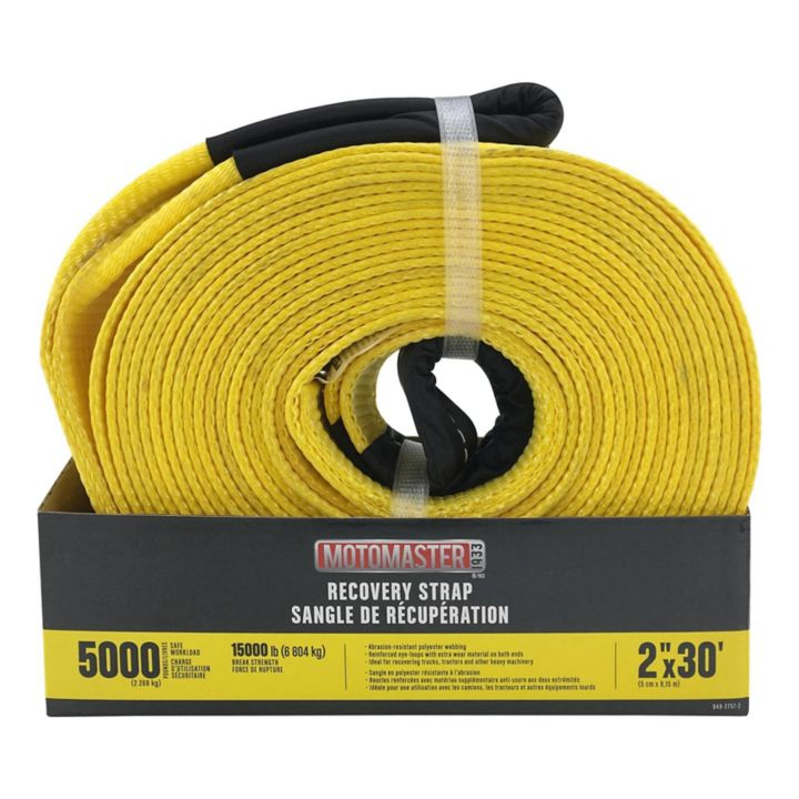 CA831 15,000-lb Recovery Strap with Loop Ends, 2-in x 30-ft