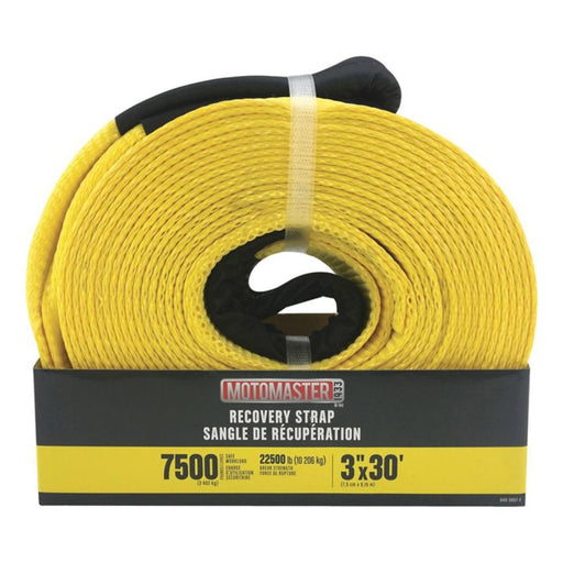 0403057 7,500-lb Recovery Strap with Loop Ends, 3-in x 30-ft