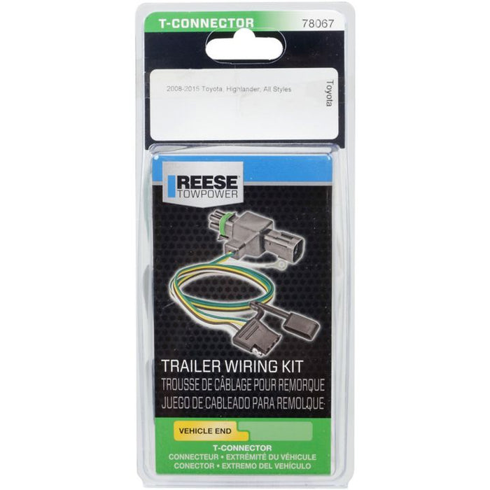 74218 Reese Towpower Vehicle Specific Trailer Wiring