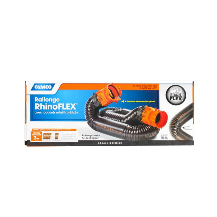 39767 Rhino Flex Sewer Hose Extension Kit, 10-ft