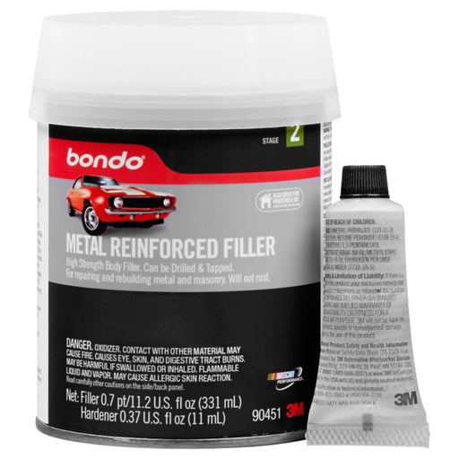 90451C Bondo Metal Reinforced Filler, 331-mL