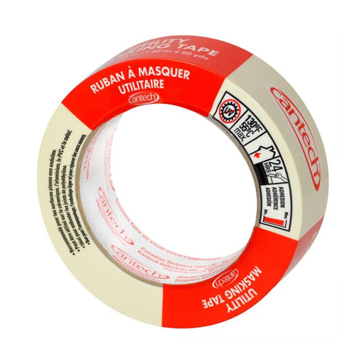 0497025 Cantech Utility Masking Tape, 24 mm x 55 m