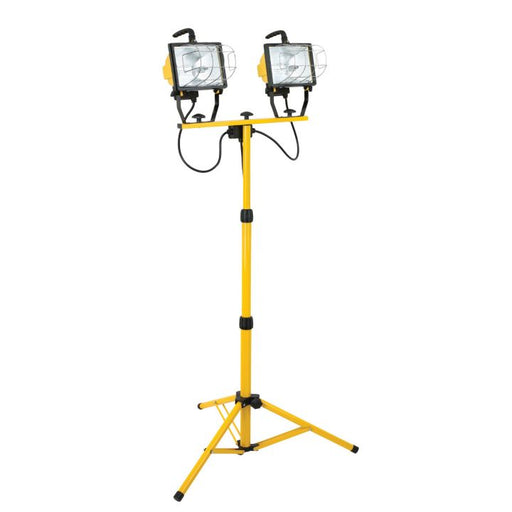 Worklight Halogen  2 x 500W Portable w/Tripod Stand