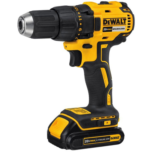 DCD777C2 DEWALT 20V Max Li-Ion Compact Brushless Cordless Drill, 1/2-in
