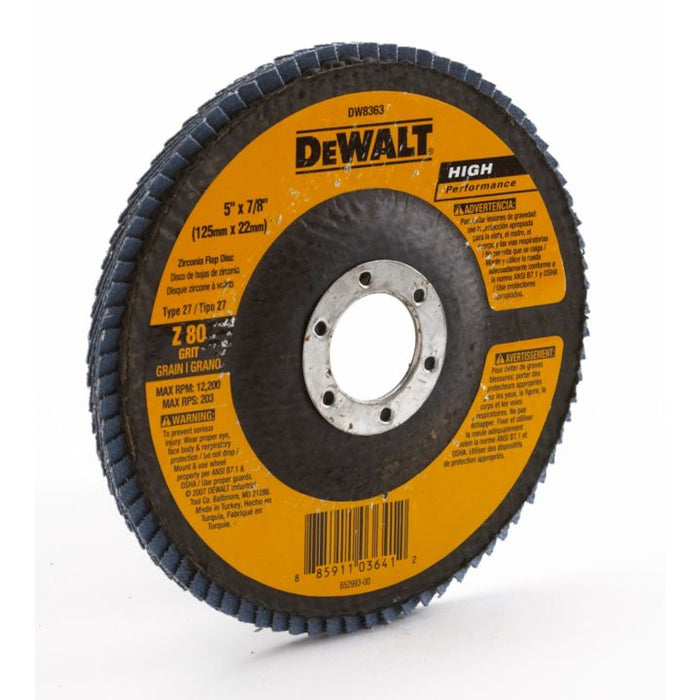 DEWALT 5 x 7/8-in Z40T27 Flap Disc