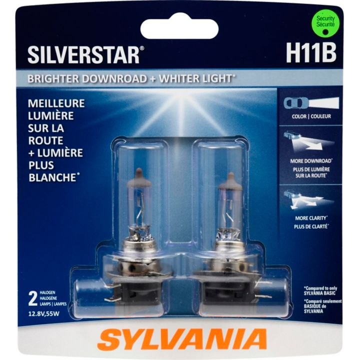 H11BST.BP2 H11B Sylvania SilverStar® Headlight Bulbs, 2-pk