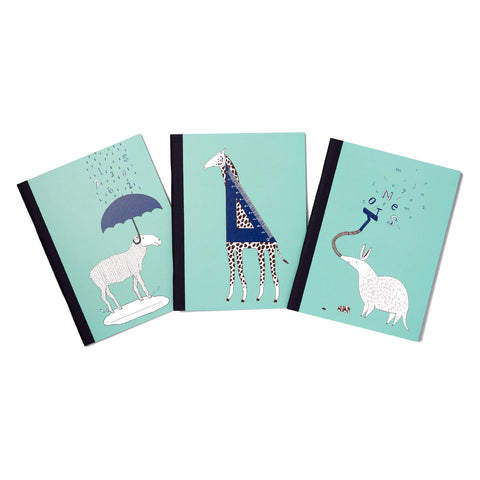 Zany zoo notebook set