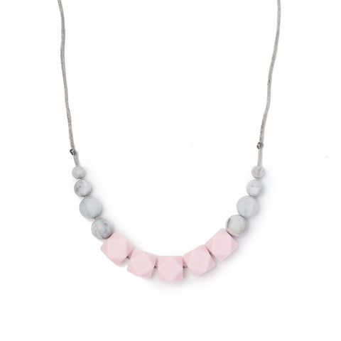 Freya Teething Necklace - Soft Pink