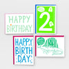 Birthday Cards - Screen Printed