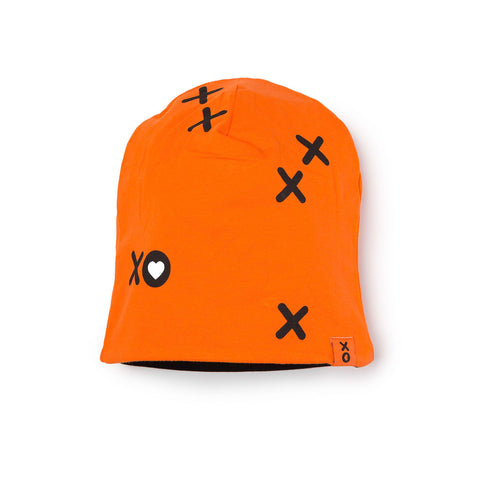 Orange Printed Beanie