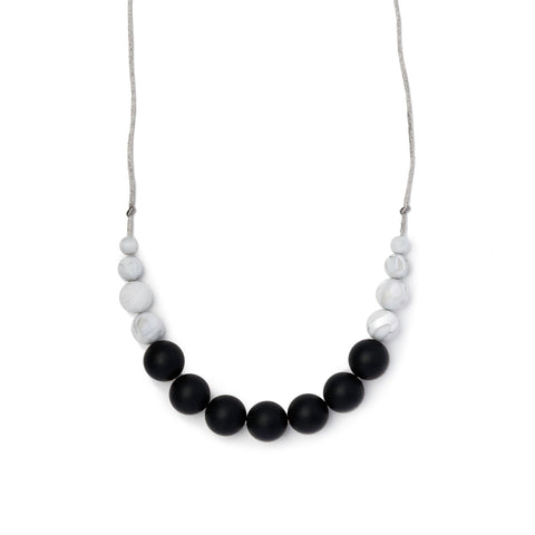 Betty Teething Necklace - Black & Marble