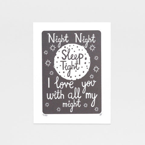 Night Night - Screen Print
