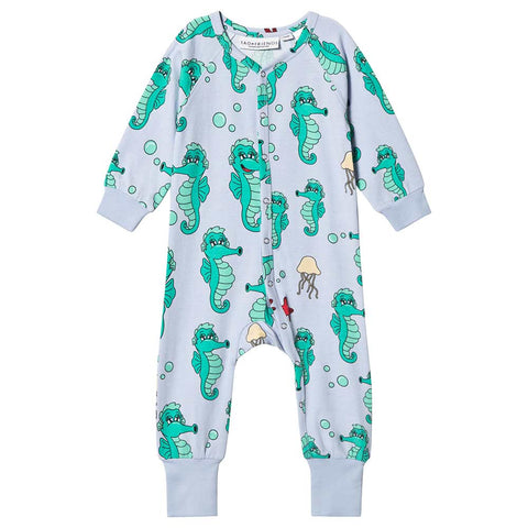Blue Seahorse One-Piece