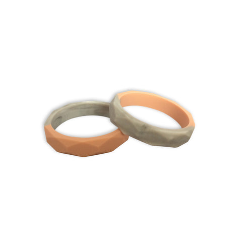 Amelia Nude Quartz Teething Bangle