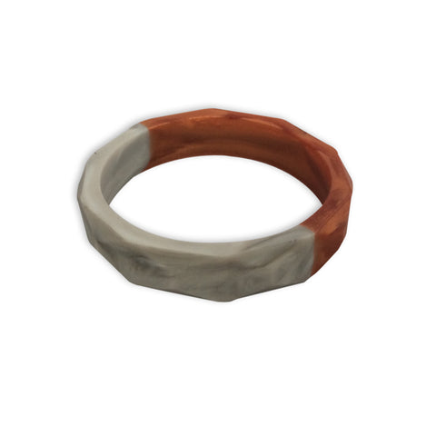 Amelia Rose Gold & Marble Teething Bangle