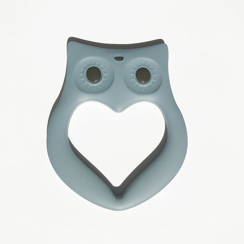 Owl Teether - Grey