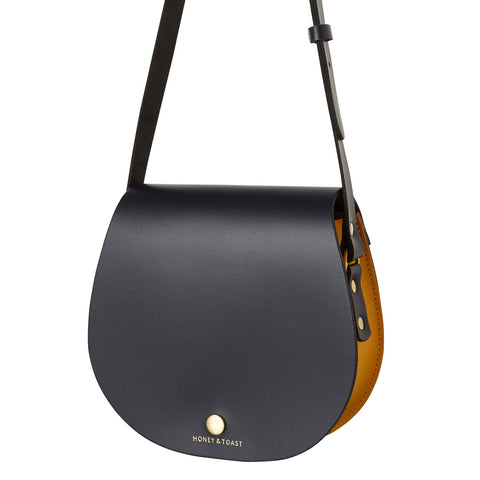 Etter Saddlebag - Navy Blue & Sun Yellow