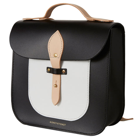 Large Rocket Satchel - Monochrome & Nude