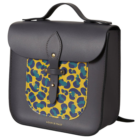 Large Rocket Satchel - Leopard