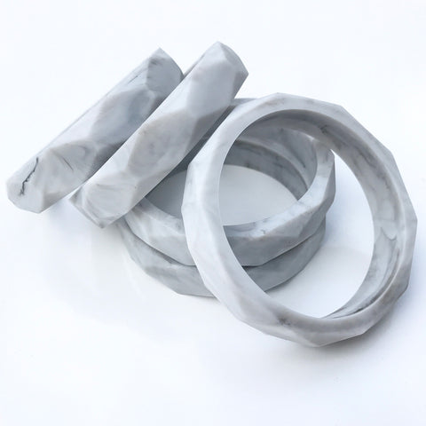 Teething Bangle - Marble