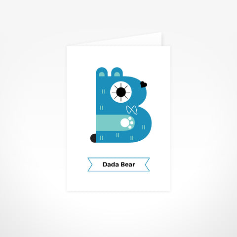 Greeting Card - Dada Bear