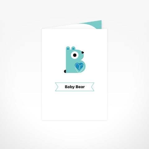 Greeting Card - Baby Bear Boy