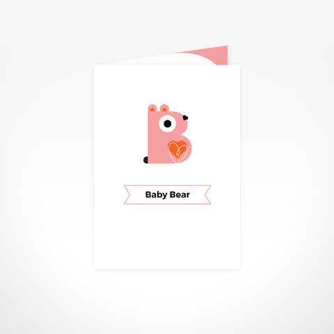 Greeting Card - Baby Bear Girl