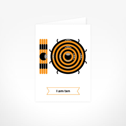Greeting Card - I Am Ten, Tarantulas