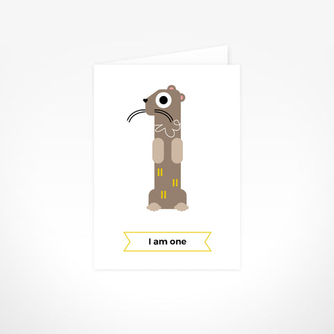 Greeting Card - I Am One, Otter