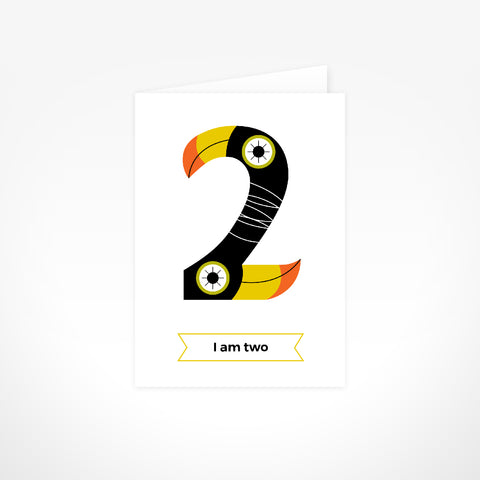 Greeting Card - I Am Two, Toucans