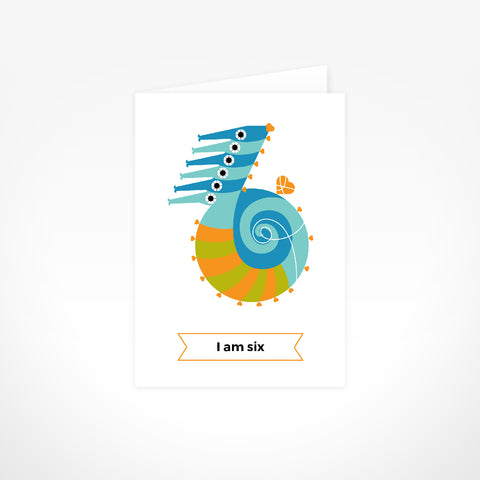 Greeting Card - I Am Six, Seahorses