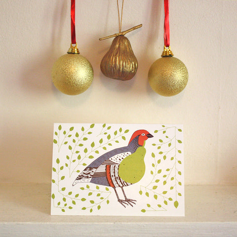 Partridge pear card