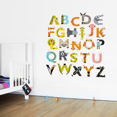 The Animal Alphabet Wall Stickers
