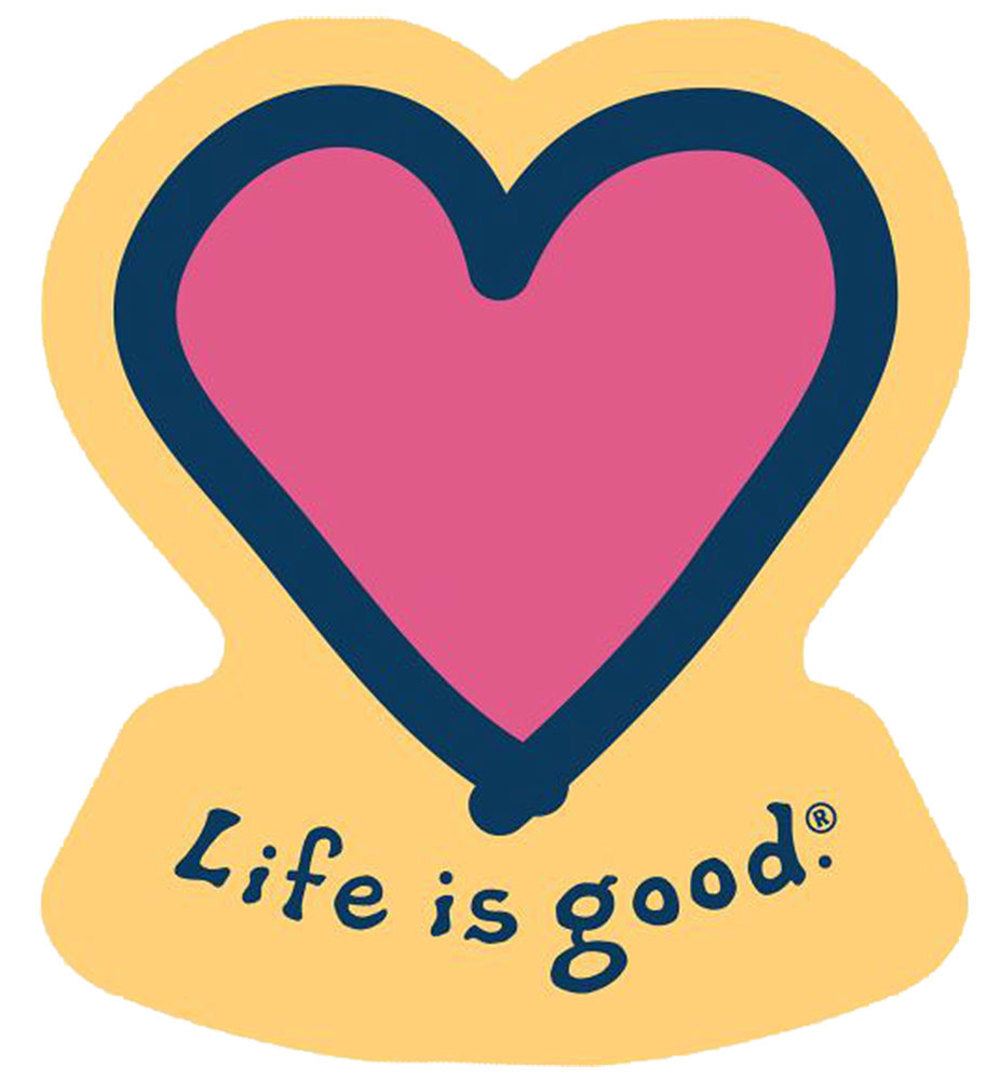 Die Cut Heart Sticker by Life is good