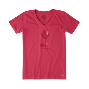 Wine Glass Crusher T-Shirt by Life is good