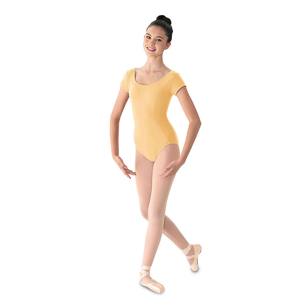 Cap Sleeve Cotton Lycra Leotard by Mirella