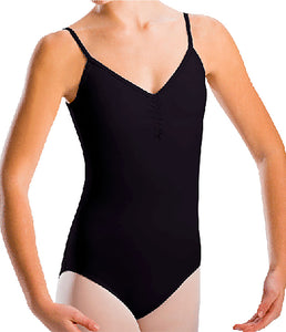Pinch Front Bowtie Back Halter Leotard by Motionwear