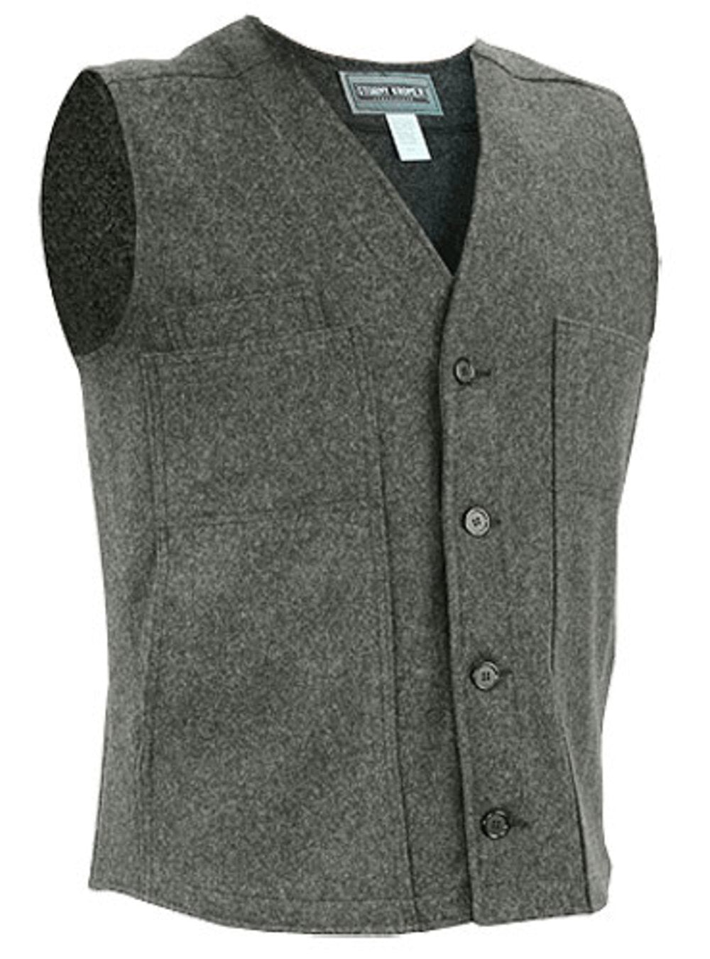 Wool Button Vest by Stormy Kromer