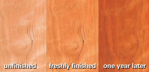 "We can help you understand how your cherry wood will ""richen"" with age at Modern Bungalow."