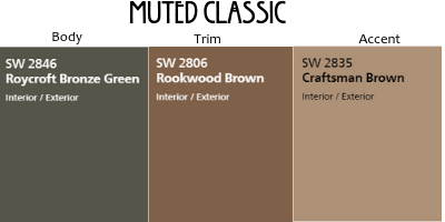 Muted Craftsman Exterior Colors